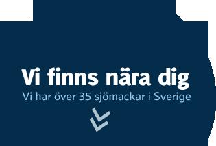 Vi finns nära dig. Vi har över 35 sjömackar i Sverige.
